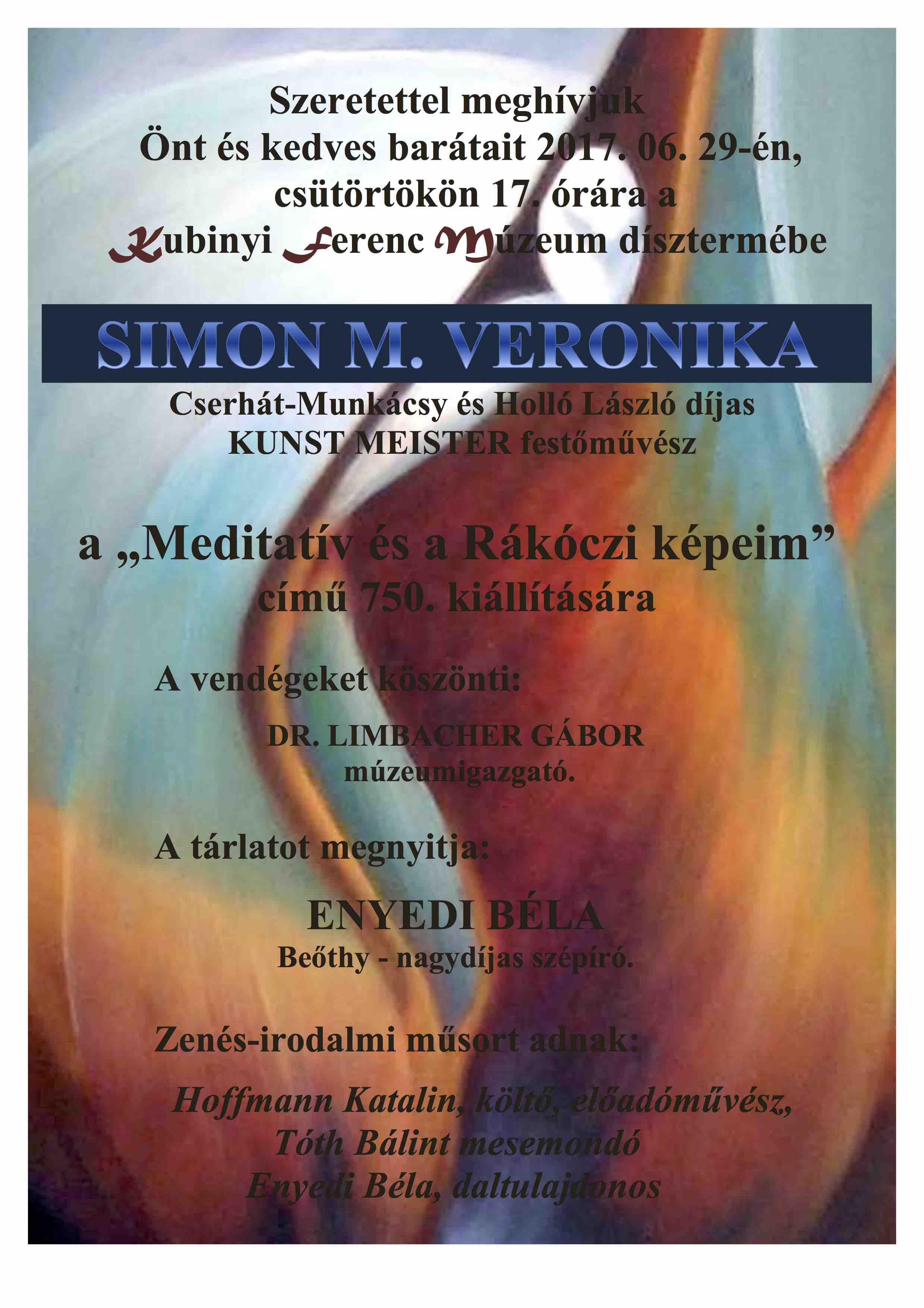 5842556c78 Simon M. Veronika kiállítása